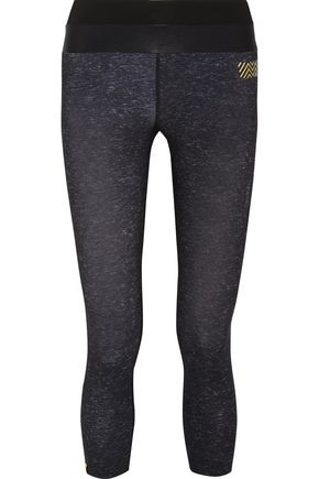 MONREAL LONDON Tribal cropped stretch-jersey leggings