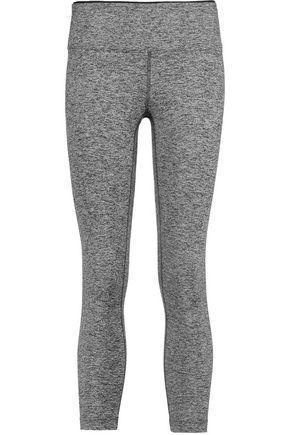 KORAL Mystic cropped marled stretch-knit leggings