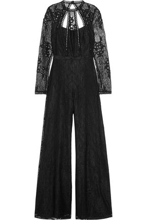 ALEXIS Arabella open-back guipure lace jumpsuit