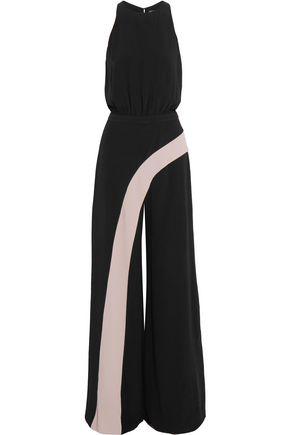 ALEXIS Deanne wrap-effect crepe jumpsuit