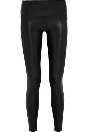 BODYISM I Am Shiny paneled stretch-jersey leggings