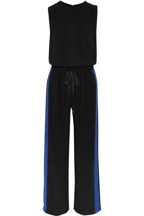 ALEXIS Karolin stripe-trimmed crepe jumpsuit