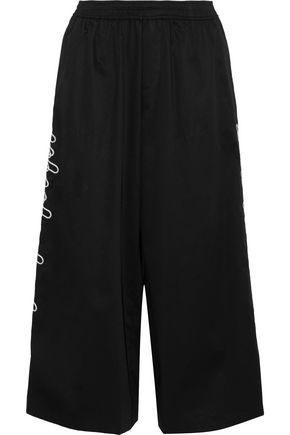 OPENING CEREMONY Embroidered cotton-blend culottes