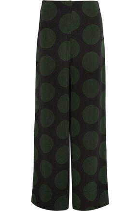 McQ Alexander McQueen Printed crepe wide-leg  pants
