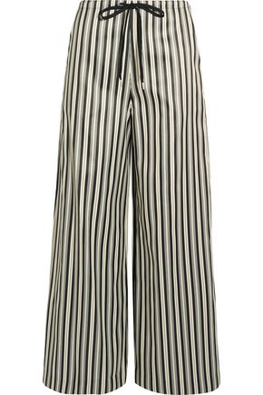 McQ Alexander McQueen Striped twill wide-leg pants