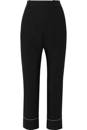BASSIKE Cropped woven straight-leg pants