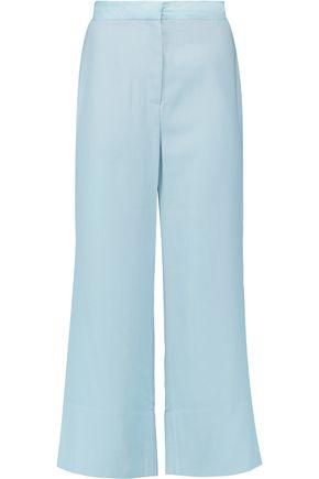 BY MALENE BIRGER Silk-satin trimmed twill wide-leg pants