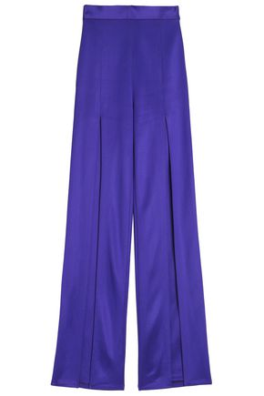 BALMAIN Stretch-ponte wide-leg pants