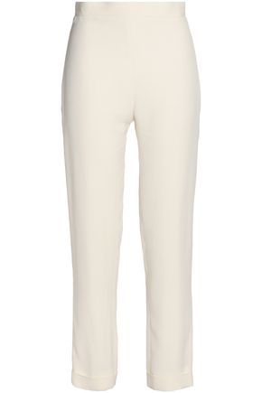 BALMAIN Crepe tapered straight-leg pants