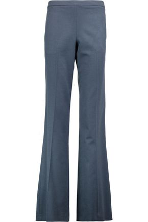 VIONNET Brushed wool and angora-blend straight-leg pants