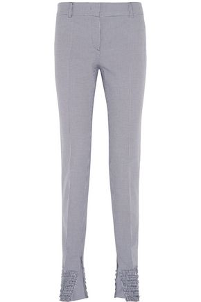 CEDRIC CHARLIER Houndstooth cotton slim-leg pants