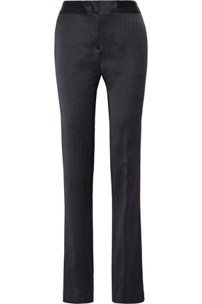 GABRIELA HEARST Herringbone silk-crepe straight-leg pants