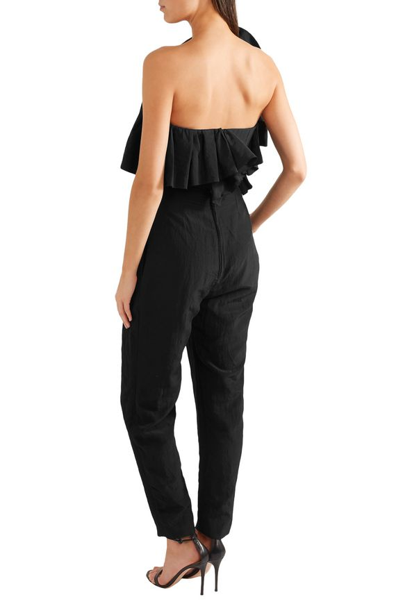Stapless ruffled taffeta jumpsuit   CARMEN MARCH   Sale up to 70% off   THE  OUTNET