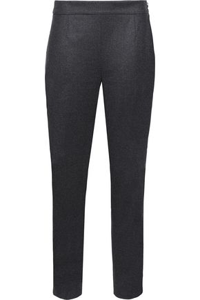 AGNONA Wool-blend slim-leg pants