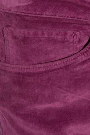 3x1 Cotton-blend velvet bootcut pants
