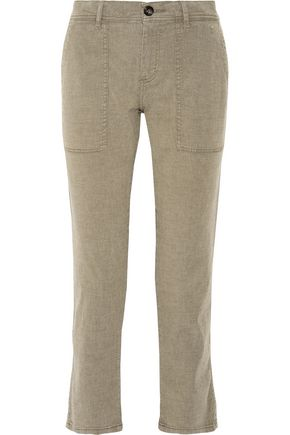 JAMES PERSE Cotton-blend straight-leg pants