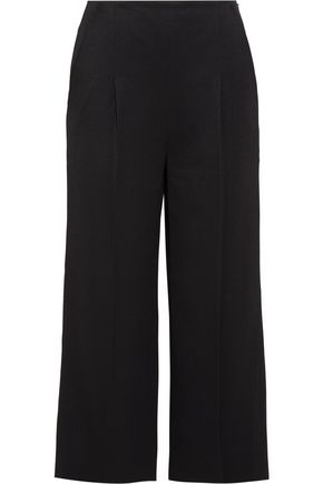 CHALAYAN Cropped twill flared pants