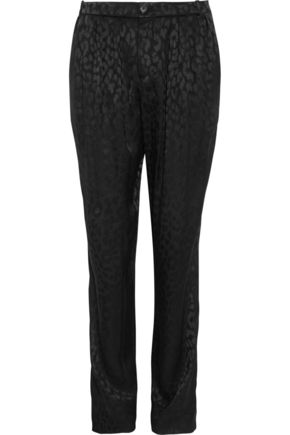 GUCCI Silk-jacquard tapered pants
