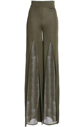 BALMAIN Stretch-knit flared pants