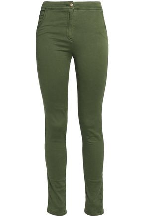 BALMAIN Cotton-blend skinny pants