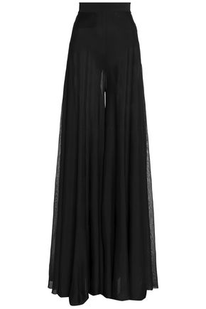 BALMAIN Cady wide-leg pants