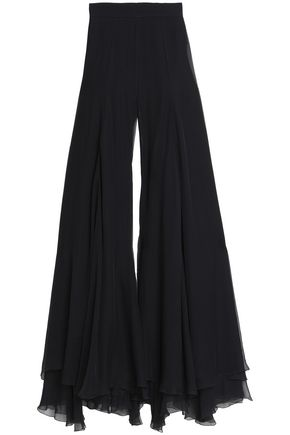 BALMAIN Georgette wide-leg pants
