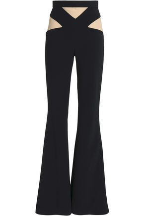 BALMAIN Paneled cady flared pants