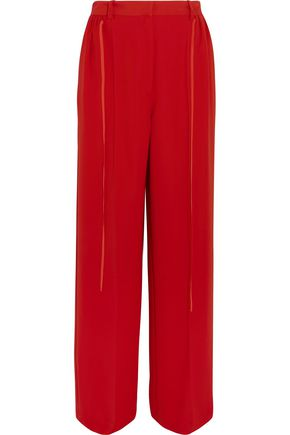 ADEAM Crepe de chine wide-leg pants