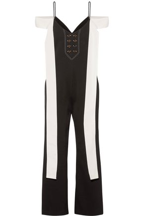 ELLERY Regina twill-trimmed cady jumpsuit