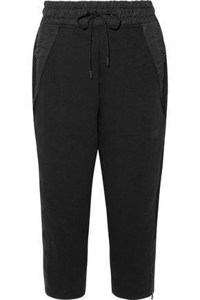 NIKE Tech Fleece cropped shell-trimmed cotton-blend track pants
