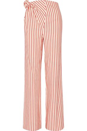 ROSIE ASSOULIN Top Knot striped linen and cotton-blend pants