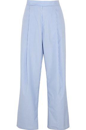 GEORGIA ALICE Perret striped cotton-poplin wide-leg pants