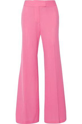 RACHEL ZOE Presley silk crepe de chine wide-leg pants