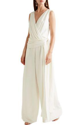 OSCAR DE LA RENTA Wrap-effect silk-crepe jumpsuit
