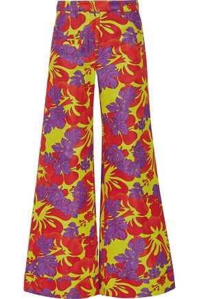 ROSIE ASSOULIN B Boy printed cotton-faille wide-leg pants