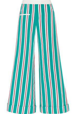 ROSIE ASSOULIN Ribbon B Boy striped cotton-blend grosgrain pants