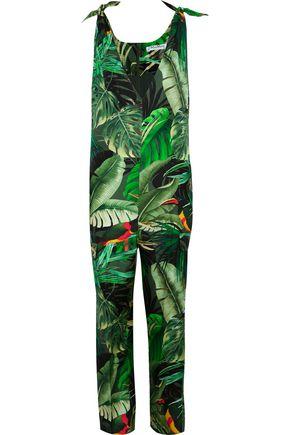 MAX MARA Printed silk-twill jumpsuit