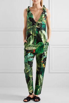 WEEKEND MAX MARA Printed silk-twill jumpsuit