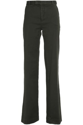 ETRO Cotton-blend twill wide-leg pants