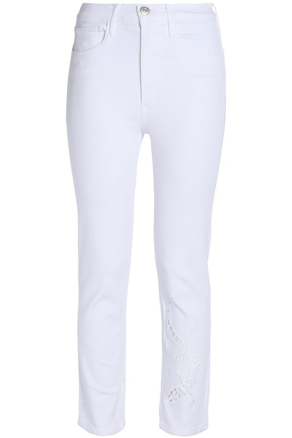 Embroidered mid-rise slim-leg jeans | 3x1 | Sale up to 70% off | THE OUTNET