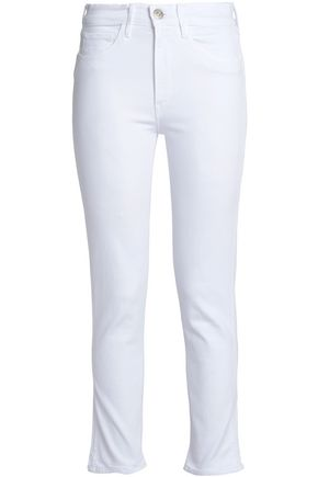 3x1 Cropped frayed mid-rise skinny jeans