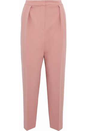 ROKSANDA Pleated crepe tapered pants