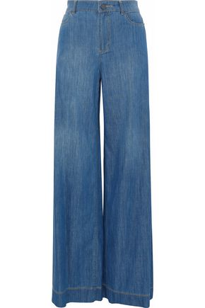 ALICE + OLIVIA Clarissa high-rise wide-leg jeans