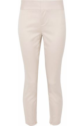 ALICE+OLIVIA Cadence cropped stretch-wool skinny pants