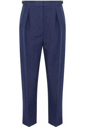 ROKSANDA Pleated wool-blend twill tapered pants
