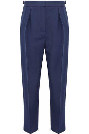 ROKSANDA Pleated wool-blend twill tapered pants
