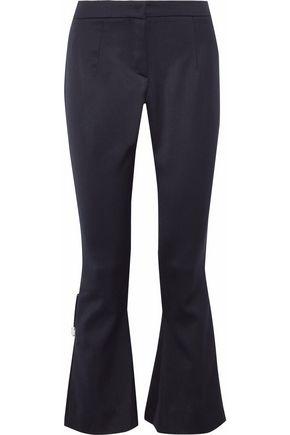 MOTHER OF PEARL Faux-pearl cady flared pants