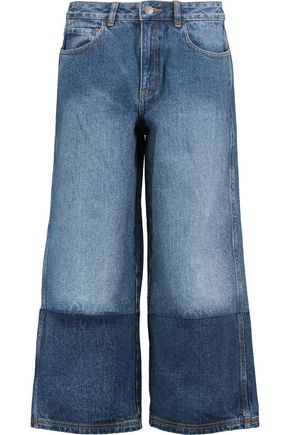 ROBERT RODRIGUEZ Two-tone denim culottes