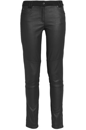 BELSTAFF Layton coated cotton-blend twill skinny pants