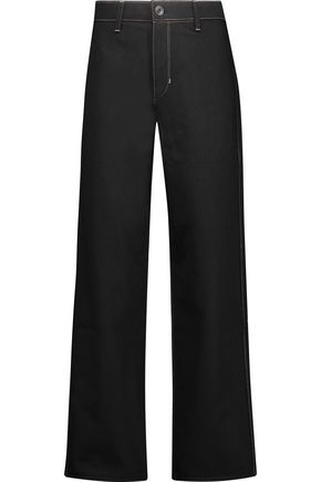 HELMUT LANG Cropped high-rise wide-leg jeans